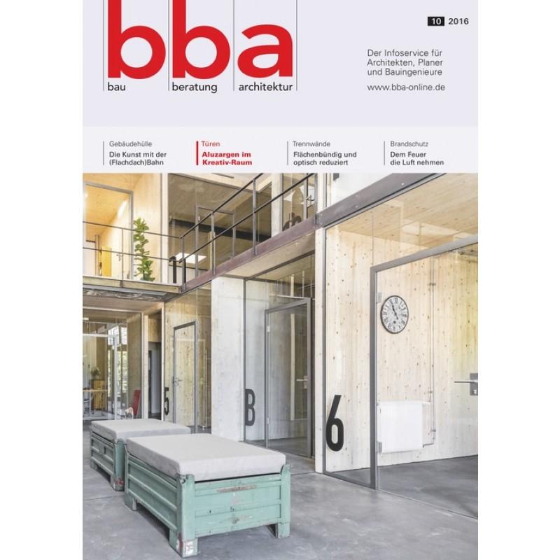 bba bau beratung architektur jahres abo. Black Bedroom Furniture Sets. Home Design Ideas