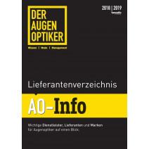 DER AUGENOPTIKER Lieferantenverzeichnis: AO-Info 2018/2019 DIGITAL