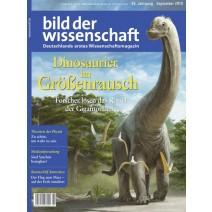 bdw Ausgabe 9/2018: Dinosaurier