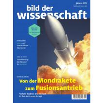 bdw Ausgabe 01/2019: Mondrakete Fusionsantrieb