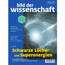 bdw Ausgabe 02/2019: Schwarze Löcher und Superenergien