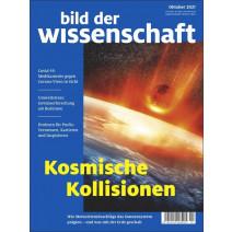 bdw Ausgabe 10/2021 : Kosmische Kollisionen