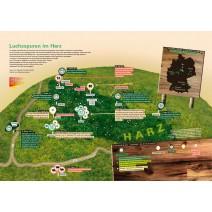 POSTER Luchsspuren im Harz